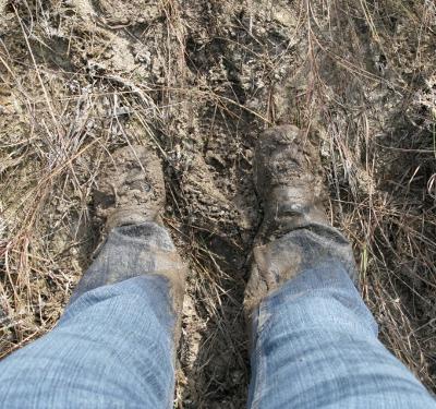 See, muddy!