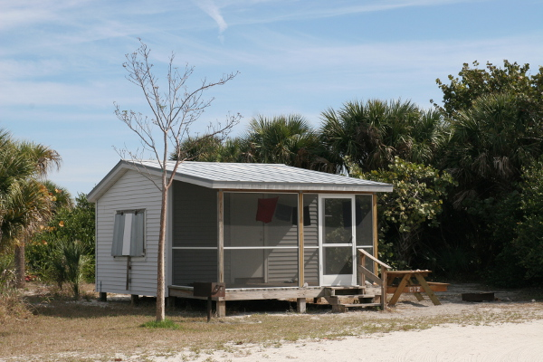 And here you have some Cayo Costa State Park cabins.