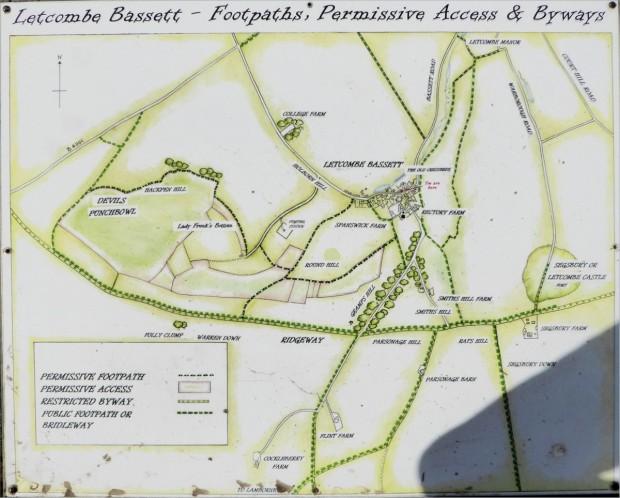 Letcombe Bassett map