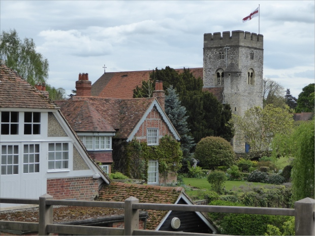 Goring village with view of church