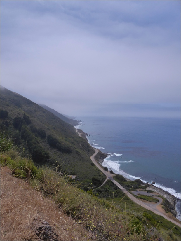 View of the Pacific Ocean from Santa Lucia Range along Nacimiento-Fergusson Road